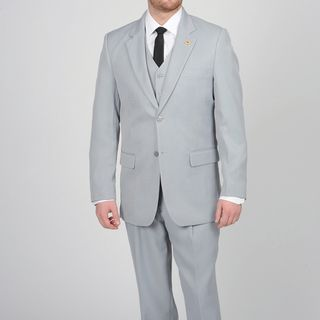 Stacy Adams Mens Silver Two button Vested Suit
