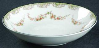 Noritake Denise Fruit/Dessert (Sauce) Bowl, Fine China Dinnerware   Gray Scrolls