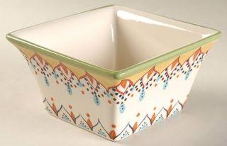 Vida By Eva Mendes Catalina Square Soup/Cereal Bowl, Fine China Dinnerware   Flo