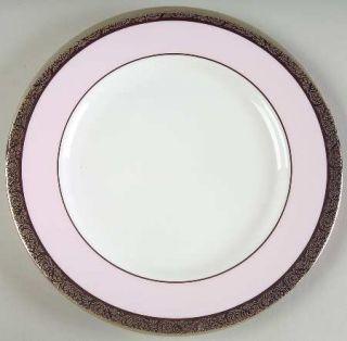 Mary Kay Mak4 Bread & Butter Plate, Fine China Dinnerware   Pink Band,Platinum E