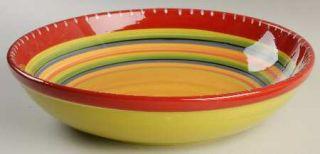 Hot Tamale 13 Pasta Serving Bowl, Fine China Dinnerware   Red,Orange,Green,Yell