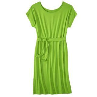 Merona Womens Knit Belted Dress   Zuna Green   L