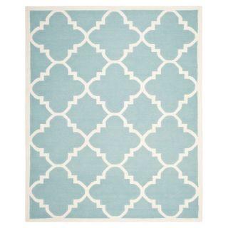Safavieh Dhurries Light Blue/Ivory Rug DHU633C Rug Size: 9 x 12