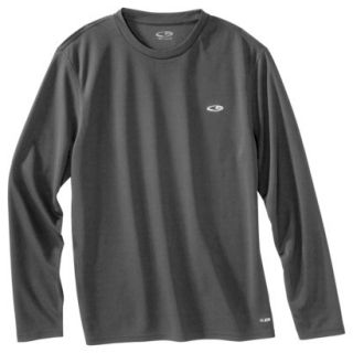 777605ae5 C9 by Champion Mens Advanced Duo Dry Training Long Sleeve Top Railroad Grey  S