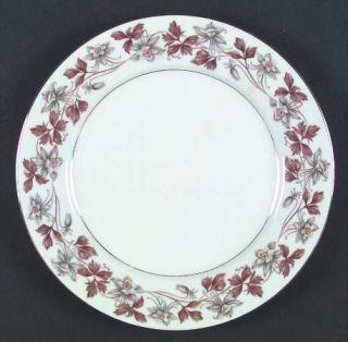 Noritake Allison Dinner Plate, Fine China Dinnerware   Gray/Brown Flowers, Brown