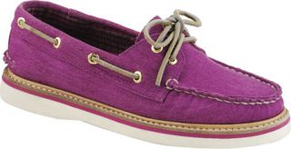 Womens Sperry Top Sider Grayson Canvas   Rose Violet Canvas Casual Shoes
