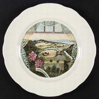 Syracuse Grandma Moses Service Plate (Charger), Fine China Dinnerware   Scenes,C