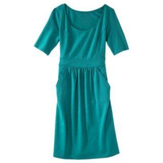 Merona Womens Ponte Elbow Sleeve Dress w/Pockets   Monterey Bay   L