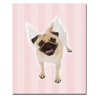 Trademark Global Inc Pug Angel Wall Art Multicolor   KC016 C2632GG