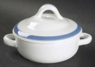 Arabia of Finland Ribbons Blue (White Background) Individual Casserole & Lid, Fi
