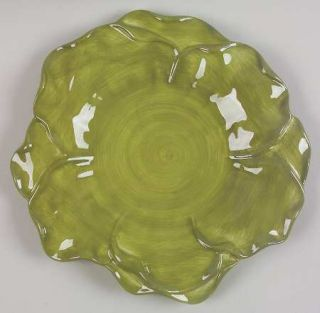 Roscher & Co Antique Green Leaf Collection Dinner Plate, Fine China Dinnerware