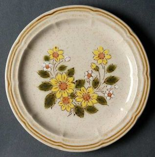 Crown Manor Spring Daisy Bread & Butter Plate, Fine China Dinnerware   Yellow &