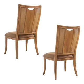 American Drew Antigua Splat Back Dining Side Chairs   Set of 2 Multicolor