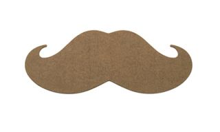 Epicurean Hipster Mustache Cutting Board, 20x8x.25 in, Nutmeg