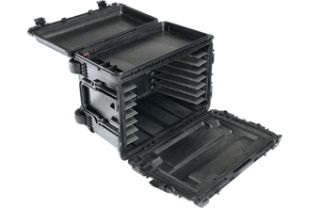 Pelican 0450WDBLACK Case,23.95 x 14.75 x 17.95 Mobile Tool Chest w/ Drawers Black