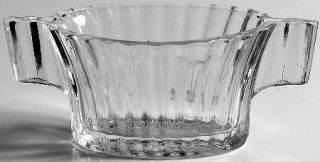 Anchor Hocking Queen Mary Clear Open Sugar   Clear, Depression Glass