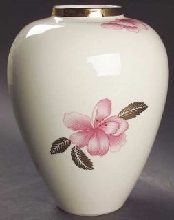Lenox China Royal Blossom Collection Vase, Fine China Dinnerware   Giftware,Pink