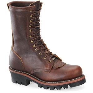Double H Boot Mens Logger Amber Gold Pitstop Boots   DH1200