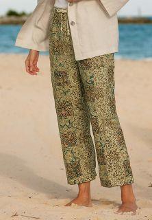 Kalamkari Patch Cropped Pants, 14