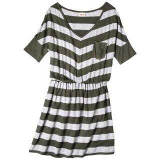 Mossimo Supply Co. Juniors V Neck Elbow Sleeve Dress   Olive XS(1)