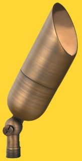 Corona Lighting CL528BAB 50W Low Voltage Brass Bullet Directional Light w/Easy Turn amp; Lock Shroud Antique Bronze, 21/4 x 61/4