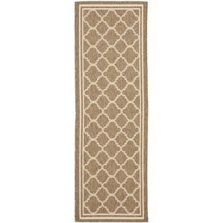 Safavieh Indoor/ Outdoor Courtyard Brown/ Bone Rug (23 X 20)