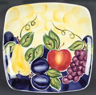 Tabletops Unlimited Di Frutto Dinner Plate, Fine China Dinnerware   Grapes, Appl