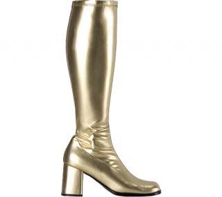 Womens Funtasma Gogo 300   Gold Stretch PU Boots