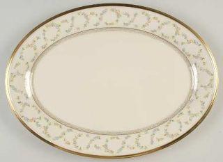 Lenox China Amanda 16 Oval Serving Platter, Fine China Dinnerware   Twisted Flo