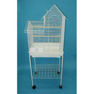 YML Villa Top Small Bird Cage with Stand and 2 Feeder Doors 1944_4924 Color