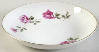 Royal Tiara Rose Marie (Smooth) Coupe Soup Bowl, Fine China Dinnerware   Pink Ro