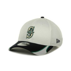 Seattle Mariners New Era MLB White Tech 39THIRTY Cap