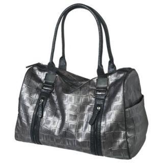 Bueno Textured Weekender Handbag   Gray
