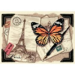 Gold Collection Petite Travel Memories Counted Cross Stitch 7x5 (7x5 inches (18x13cm). Designed by: Lisa Goldstein. )