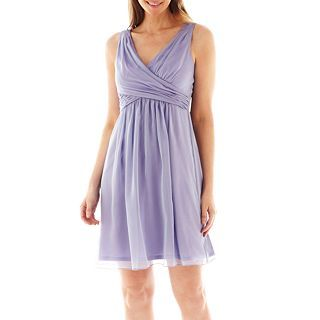 LILIANA Simply Sleeveless Chiffon Fit and Flare Dress, Thistle