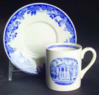 Wedgwood Harvard University Blue Flat Demitasse Cup & Saucer, Fine China Dinnerw