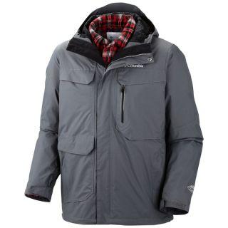 Columbia Sportswear Back to Hells Mountain Omni Heat(R) Jacket   3 in 1  Waterproof (For Men)   GRPAHITE (XL )
