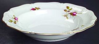 Royal Heidelberg Rose Brier (White) Rim Soup Bowl, Fine China Dinnerware   Moss