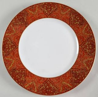 222 Fifth (PTS) Eva Opulent Red Dinner Plate, Fine China Dinnerware   Red And Go