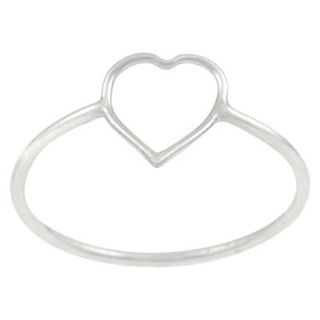 Tressa Collection Sterling Silver Heart Cut out Ring   Silver 5