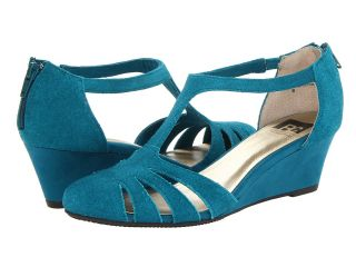 BC Footwear Prepare For Landing Womens Wedge Shoes (Blue)