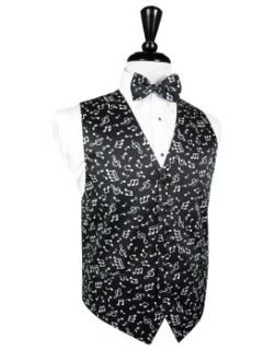 Musical Notes Tuxedo Vest by Cardi Medium