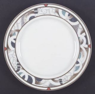 Bernardaud Paris (Geometric/Nudes) Dinner Plate, Fine China Dinnerware   Phoebe