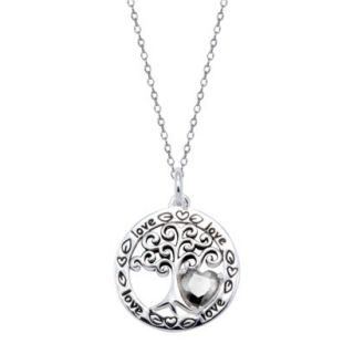 Sterling Silver Family Tree Pendant   Silver