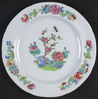 Spode Willis (Y2684) Salad Plate, Fine China Dinnerware   New Stone, Indian Tree