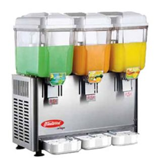 Fleetwood Twin Cold Beverage Dispenser w/ (3) 3 Gal Capacity, Stainless Valves