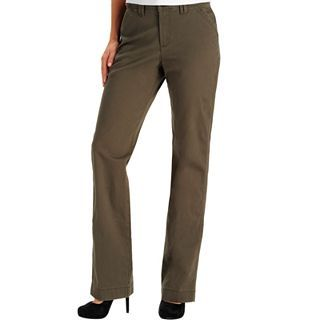 Lee Straight Leg Carden Soft Twill Pants, Military Olive, Womens
