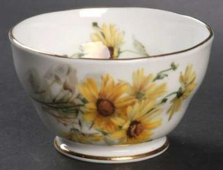Royal Standard Brown Eyed Susan Open Sugar Bowl, Fine China Dinnerware   Yellow