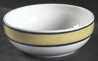 Nancy Calhoun Fusions Honey Coupe Soup Bowl, Fine China Dinnerware   Yellow Bord