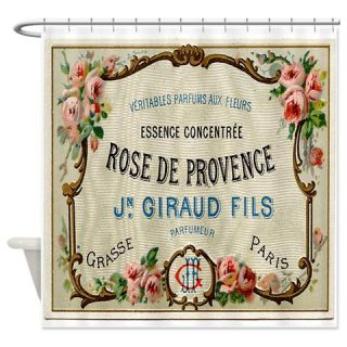 Vintage French Perfume Label Shower Curtain Use Code FREECART At Checkout